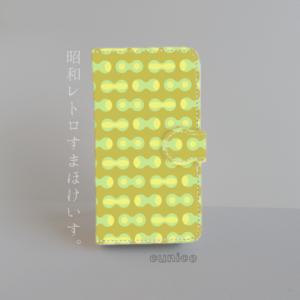 手帳型スマホケース「昭和レトロ02」